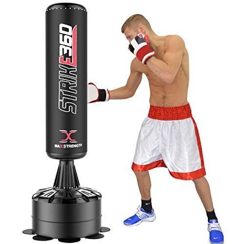 Maxstrenght®, sacco da boxe da terra, sacco da pugilato, attrezzatura pesante per boxe, arti marziali, kickboxing, da 182,88 cm