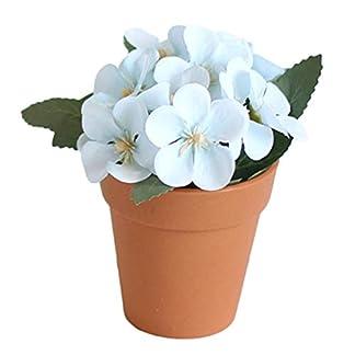 little finger Pequeña Flor Artificial, Planta Artificial Begonia Maceta Falsa para decoración de Mesa de Fiesta Bonsai, de plástico