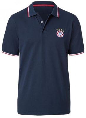 FC Bayern Poloshirt Logo, navy von FC Bayern München auf Outdoor Shop