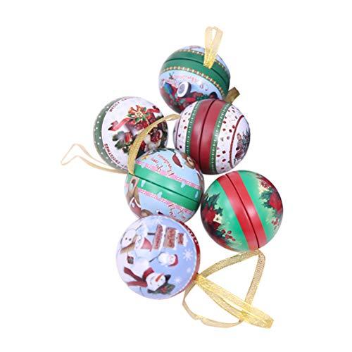 BESTOYARD 6 Stücke Christams Pralinenschachtel DIY Ornament Bälle Fillable Weihnachtsbaum Dekoration Candy Vorratsdose für Kinder Kinder Weihnachten Winter Urlaub Party Decor