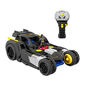 Fisher-Price GBK77 Imaginext DC Super Friends Vehículo de Batmóvil R/C transformable