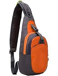uooom multiusos bolsa Sling pecho paquete hombro mochila impermeable triángulo mochila para viaje, Running, Sports, gimnasio