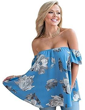 Camiseta de tirantes con diseño floral de turquesa para hombro, camiseta de fiesta, camiseta de estilo informal...