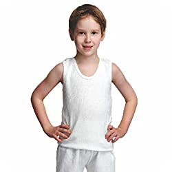 Bodycare Kids Thermal CutSleeve Top (Pack of 2) (2-4 years) (Off White Colour)
