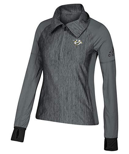 adidas Damen Logo Performance Quarter Zip Pullover, Damen, XX-Large