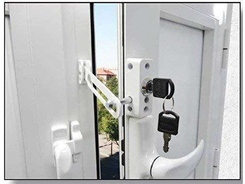 FTS/_3003/_W Cerrojo de presi/ón con soporte para ventana o puerta corredera blanco ABUS 284090