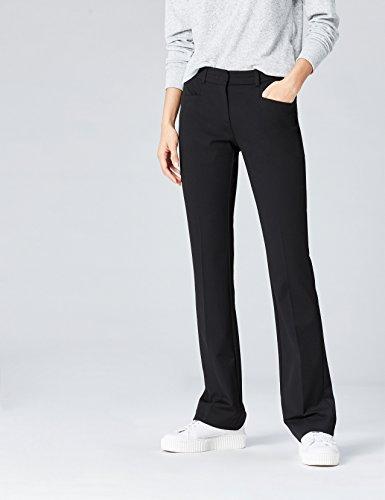 FIND Damen Hose mit Schlag Schwarz (Black)