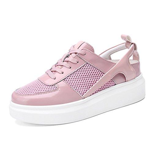 Scarpe plimsoll da donna, modello Ella glitterato, scarpe da ginnastica piatte, Rosa (Pink), 38 EU