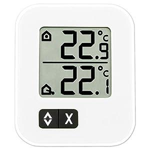 TFA Dostmann digitales Max-Min-Thermometer 30.1043.02, weiß