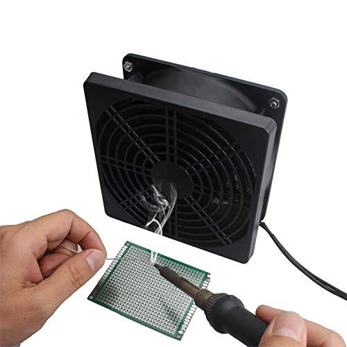 Byjia Löten Sie Rauch Absorber Entferner Dampf Extrator, Rauch Verhinderung-Handy Tragen DIY Arbeitsgebläse,Black,12X12x4cm