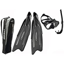 Cressi Unisex's Gara Professional LD Bag Freediving/snorkels Kit, Grey/Black, 40/41 (6.5/7.5)