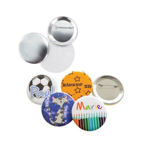 Button Anstecker Ansteckpin Rohmaterial 100 Stk. mit Anstecknadel