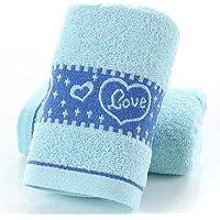 PWTY 3Pcs / 1Set 100% Algodón De Secado Rápido para El Baño del Hotel Home Toallas Suaves SPA Toalla para Adultos 32X73Cm, Azul 4,32X73Cm