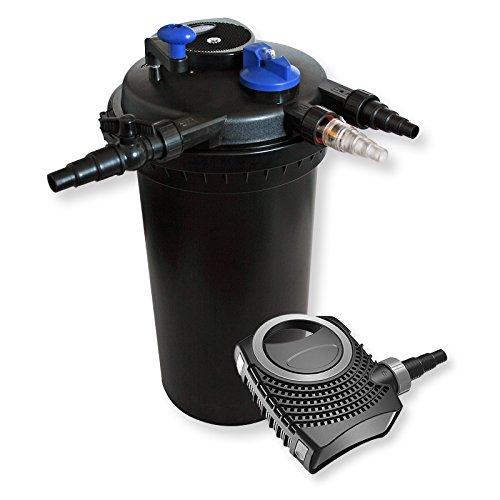 Xxl set filtro a pressione 30000l 18w uvc depuratore per for Teli per stagni