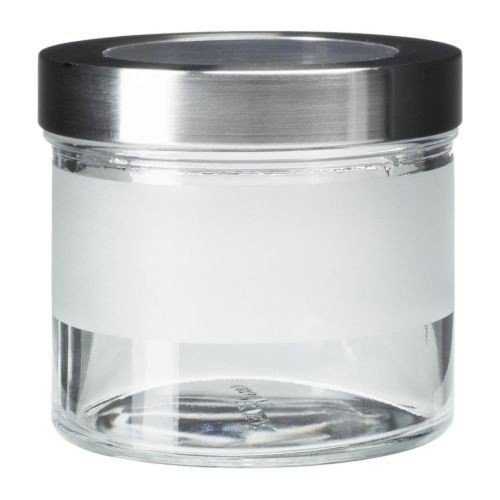 ... IKEA DROPPAR Dose Mit Deckel; Aus Frostglas; (0,4l)