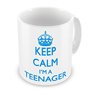 Keep Calm I'm A Teenager Gift Mug - Blue