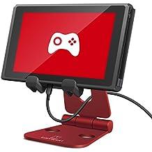Lamicall Tablet Ständer Verstellbare, Multi-Winkel Faltbar Ständer : Universal Ständer, Dock für Pad Air 2 3 4, Pad Pro 10.5/9.7/12.9, Pad Mini 2 3 4, Kindle - Rot