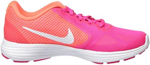 Nike Wmns Revolution 3, Entraînement de course femme Multicolore (Pink Blast/Bright Mango/White)