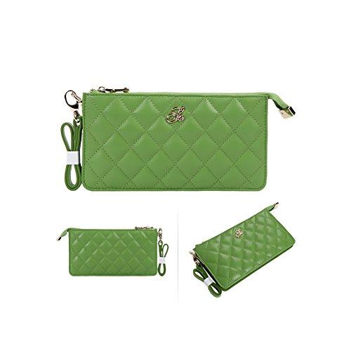 Grande capacità lusso Portafoglio da donna in pelle, borse-Portafogli con portamonete e porta carte di credito e tasca con Pocket Rose