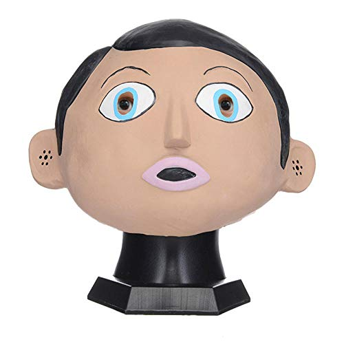 fcywai Halloween Mask,Nett Überrascht Doll Kreativ Neuheit Latex Masken Erwachsene Scary Kids Spaß Rave Kostüm Requisiten Partei Schutzmaßnahmen Airsoft Paintball Karneval - Scary Doll Halloween Kostüm