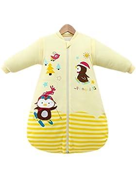 Chilsuessy Mädchen und Jungen Winter Schlafsack mit abnehmbaren ärmeln Babyschlafsack Winter Kleine Kinder Schlafsack...