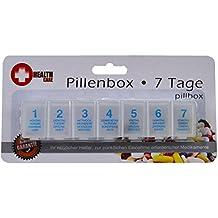 Pastillero 7 días Pastillero Caja de pastilleros semanales dispensador de Medicamentos Caja