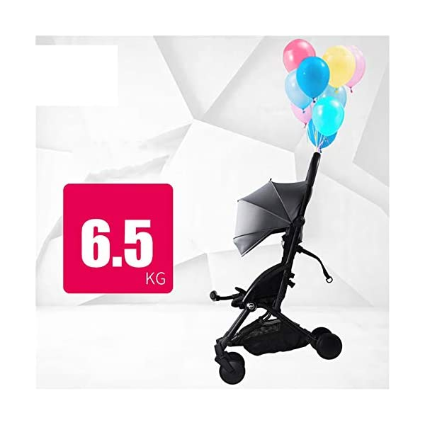 WFCVS Pushchairs Stroller Trolley Sit Lie Shockproof Ultra Light Folding Parachute Car 0-3 Years Old On Board,Claret WFCVS Trolley type: boarding trolley Basket fabric: Oxford cloth / age: 1 months ~4 years old Color classification: black, blue, gray, wine red. Frame material: aluminum alloy / bearing: 25kg Types of wheels for children's cars: natural rubber 3