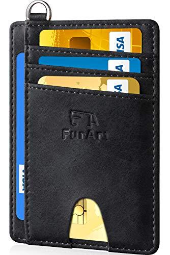 FurArt Schlanke Geldbörse für Damen und Herren,RFID Schutz,Leder Portemonnaie Klein Geldbeutel,Kreditkartenetui