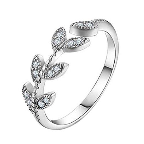LeisialTM Elegante Nuovo Stile ed Elegante Eleganza Zircon di Diamanti Personalizzati da Art Lascia Aperto l'anello
