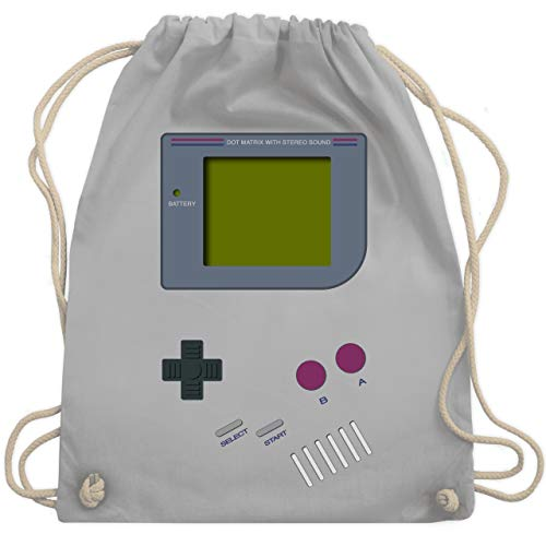 Nerds & Geeks - Gameboy - Unisize - Hellgrau - WM110 - Turnbeutel & Gym Bag (Für Outfit-ideen Cooles Jungs)
