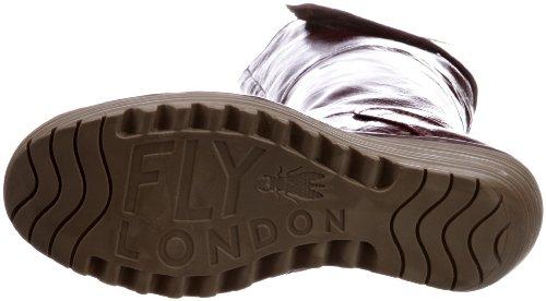 Marroni Enzi Donna cuero Londra 43 Yule Volare Della Stivali Classico wPAxBCq