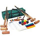 Croquet Set 6 Player- Garden Games Longworth Adult sized Croquet set with 98.5cm mallets in a canvas carry bag