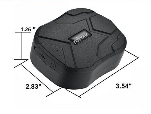 TKSTAR Magnet GPS Tracker Auto, 5 Monate lang Standby GPS Ortung, Wasserdicht Echtzeit Tracking GPS Locator Professional Anti-verloren GPS Alarm Tracker für Auto LKW Moto gefrier Boot TK905B
