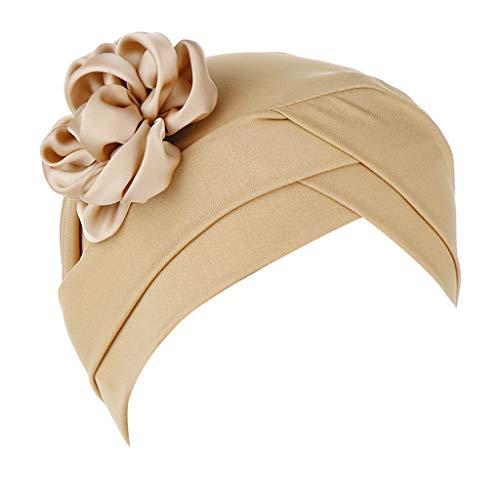 Auiyut Frauen Blumen Indien Hut moslemische Rüsche Krebs Chemo Sommer Turban Verpackungs Kappe (Khika, FREIEGRÖSSE)
