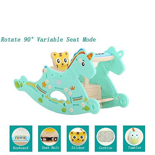 Mhxzkhl Baby Schaukelpferd, Giraffe Rocker Für Baby Bis 0-6 Jahre Alt, Baby Kunststoff Schaukelpferd/Garten Schaukelpferd/Indoor Outdoor Schaukelpferd Spielzeug,4