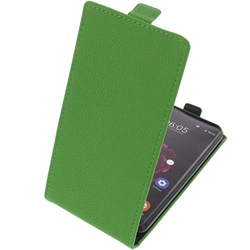 foto-kontor Tasche für Oukitel U20 Plus Smartphone Flipstyle Schutz Hülle grün