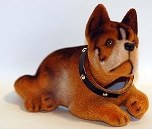 Voiture - Chien tête qui bouge - Bulldog - 16,50 cm