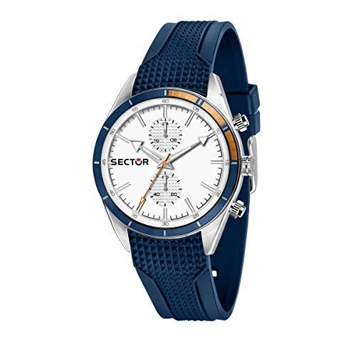 Sector 9 Hommes Analogique Quartz Montre avec Bracelet en Silicone R3251516005