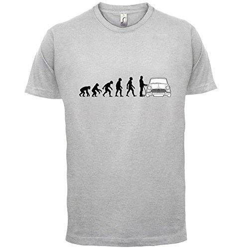 Evolution of Man - Mini Fahrer - Herren T-Shirt - 13 Farben Hellgrau