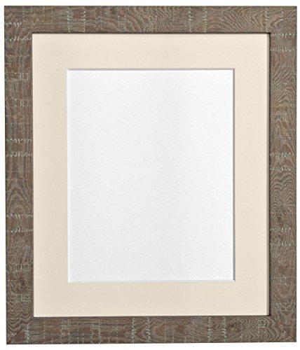 Frames by Post Bilderrahmen, tief, Körnung Mittel, A3 Bilderrahmen mit Passepartout für A4-Bilder, Größe, Braun -