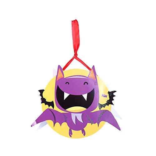 Amosfun Halloween Candy Bag Papiertüte Süßes oder Saures-Tüten mit Schleife Halloween Party Favors (Bat)