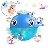 LEADSTAR Badewannenspielzeug, Whale Bubbler Spielzeug Badewanne Blase Badespielzeug Seifenblasenmaschine Wasserspielzeug Automatisch Baby Spielzeug mit Musik ab 18 Monate, Spielzeug für die Badewanne
