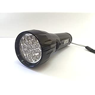 Taschenlampe Aluminium 19 LED - Farbe: Silber, Rot, Blau und Schwarz Schwarz