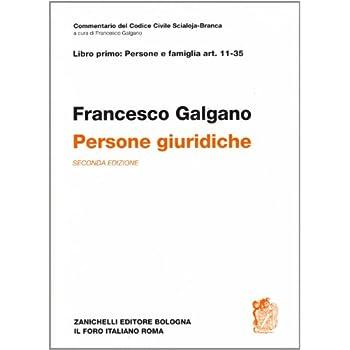 Commetario Al Codice Civile. Persone Giuridiche (Artt. 11-35 Del Cod. Civ.)
