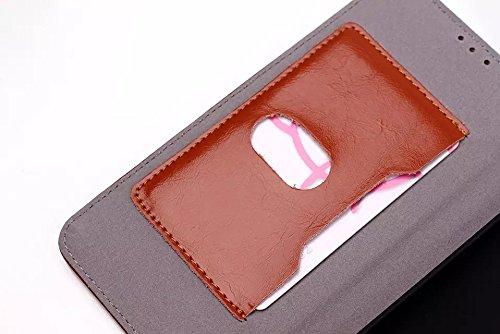 LG G3 Case,einfarbig Leder - Etui Für Magnetische Folio Cover Fall Kartenschlitz Für Lg - G3 ( Color : Red , Size : LG G3 ) Brown