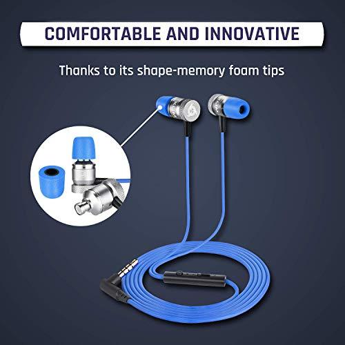 KLIM Fusion In-Ear-Kopfhörer mit Memory Foam, Blau - 4