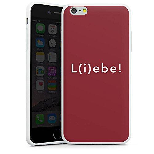 Apple iPhone X Silikon Hülle Case Schutzhülle Sprüche Liebe Lebe Silikon Case weiß