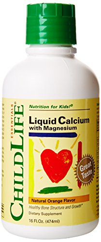 Childlife, Essentials, Flüssigkeit Kalzium mit Magnesium, natürliches Orangenaroma, 16 fl oz (474 ml) - Natürliche Kalzium