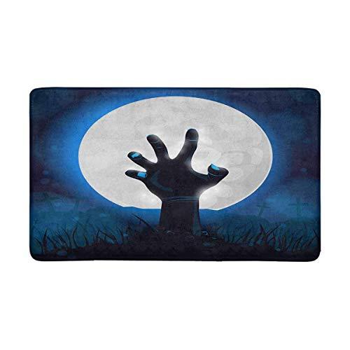 LIS HOME Halloween für Party mit den Armen des Zombie-Toten Mannes vom Grundinneneingang Fußmattengummi-Schutzträger (Armee Mann Toten Halloween)