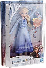 Disney Frozen Singing Elsa Fashion Doll with Music Wearing Blue Dress Inspired by Disney Frozen 2, Toy For Kid